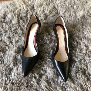 Christian Louboutin Iriza Black Leather Heels 38.5